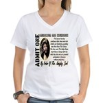 Ticket To Heaven Women's V-Neck T-Shirt