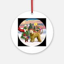 Santa's Treat for his Wheaten Ornament (Round)