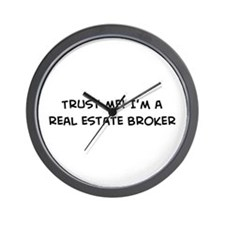 Trust Me: Real Estate Broker Wall Clock