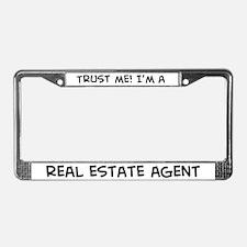 Trust Me: Real Estate Agent License Plate Frame