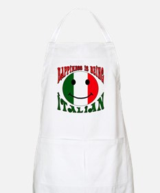 Happiness is being Italian BBQ Apron