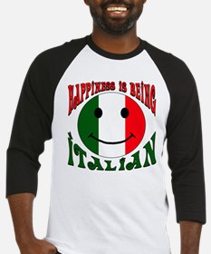 Happiness is being Italian Baseball Jersey