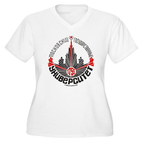Moscow U Women's Plus Size V-Neck T-Shirt