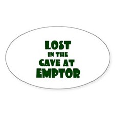 Cave at Emptor Oval Decal
