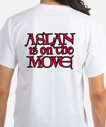 Aslan Is On The Move White T-Shirt
