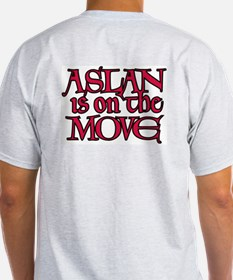 Aslan Is On The Move Ash Grey T-Shirt