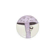 Mushroom Alien Mini Button (10 pack)