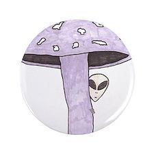 """Mushroom Alien 3.5"""" Button"""
