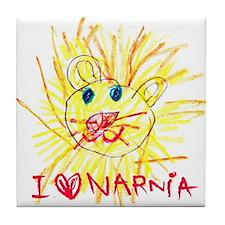 I Love Narnia Tile Coaster