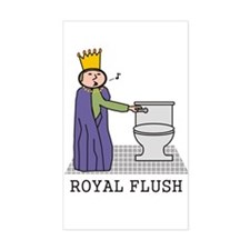 Royal Flush Rectangle Decal