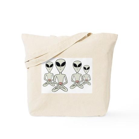 Meditating Aliens Tote Bag