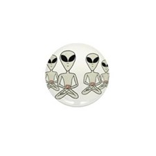 Meditating Aliens Mini Button