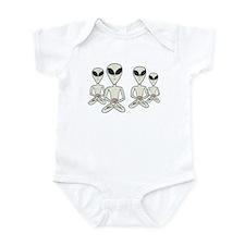 Meditating Aliens Infant Bodysuit