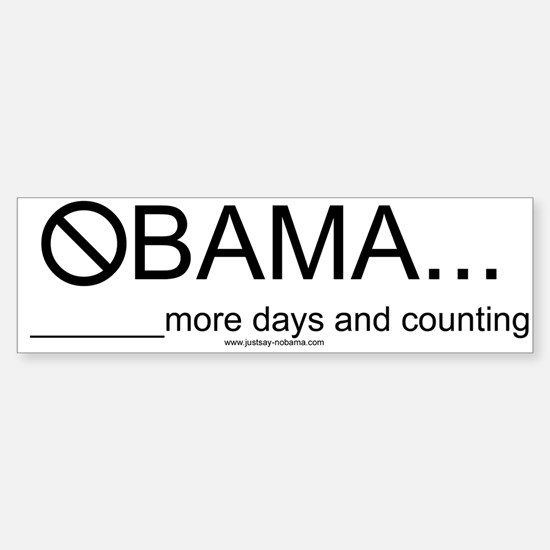 Obama's Days Left in Office, Bumpersticker
