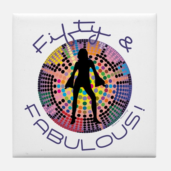 Fifty & Fabulous Tile Coaster