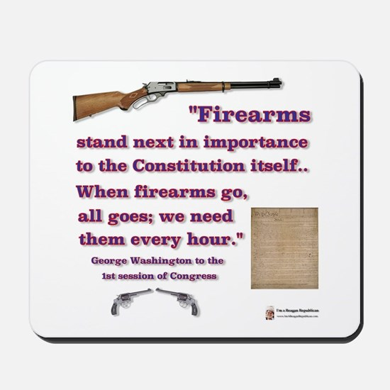 Firearms and the Constitution Mousepad