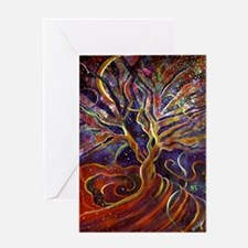 Aura Energy Tree Greeting Card