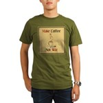 Make coffee, not war! Organic Men's T-Shirt (dark)