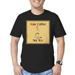 Make coffee, not war! Men's Fitted T-Shirt (dark)