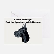 Only sleep with Danes Greeting Cards (Pk of 10