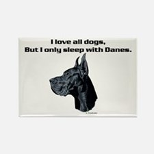 Only sleep with Danes Rectangle Magnet