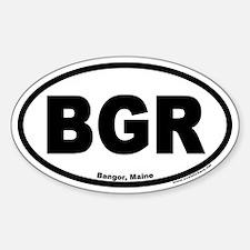 Bangor Maine BGR Euro Oval Decal
