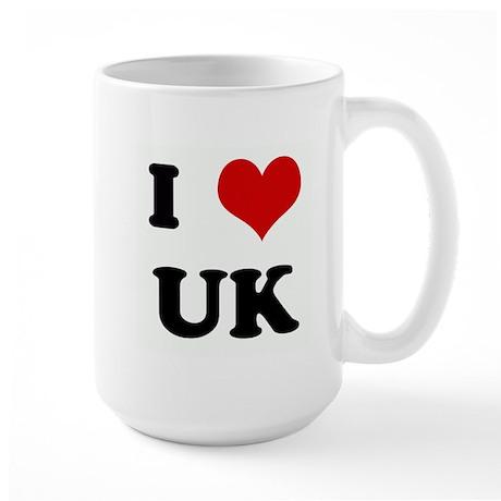 I Love UK Large Mug