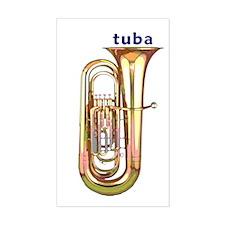 Tuba Sticker (Rect.)