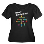 Merry Christmas! Women's Plus Size Scoop Neck Dark