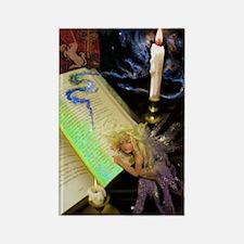 Fairy w Dragon and Unicorn Magnet