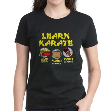 Learn Karate Women's Dark T-Shirt
