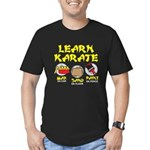 Learn Karate Men's Fitted T-Shirt (dark)