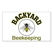 Backyard Beekeeping Rectangle Decal