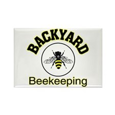 Backyard Beekeeping Rectangle Magnet