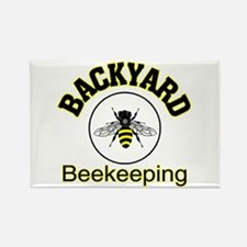 Backyard Beekeeping Rectangle Magnet