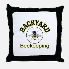 Backyard Beekeeping Throw Pillow
