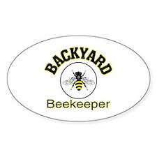 BACKYARD BEEKEEPER Oval Decal