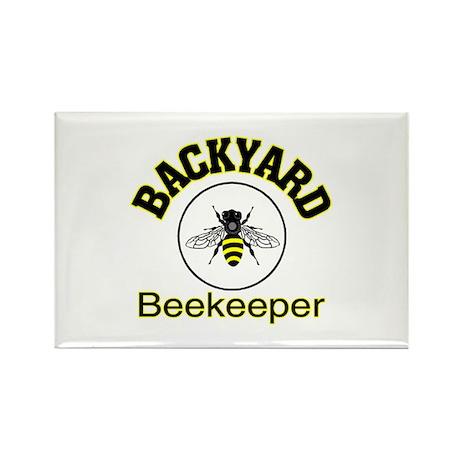 BACKYARD BEEKEEPER Rectangle Magnet (100 pack)