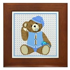 Baby Boy TeddyBear Framed Tile
