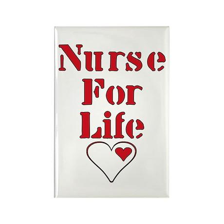 Nurse For Life Heart Rectangle Magnet