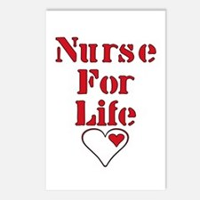 Nurse For Life Heart Postcards (Package of 8)