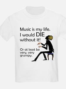 Music Is My Life Kids T-Shirt
