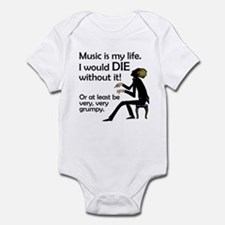 Music Is My Life Infant Creeper