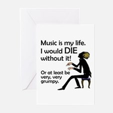 Music Is My Life Greeting Cards (Pk of 10)