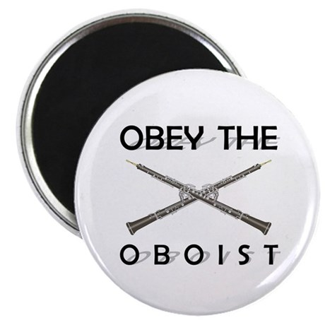 """Obey the Oboist 2.25"""" Magnet (100 pack)"""