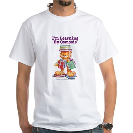 Garfield Learning by Osmosis White T-Shirt