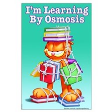 Garfield Learning by Osmosis Large Poster