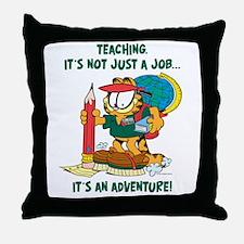 It's an Adventure Garfield Throw Pillow