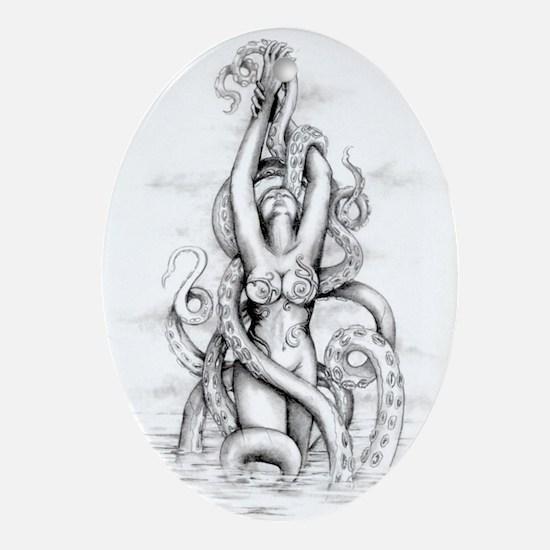 erotic sci-fi and fantasy Oval Ornament