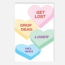 Valentine's Day Candy Postcards (Package of 8)